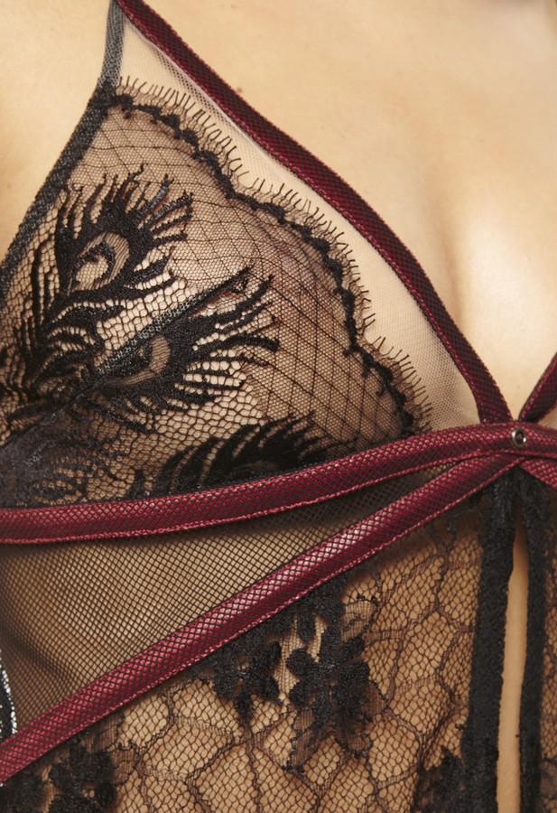 Babydoll La Perla Black Label Extasy With Matching Thong