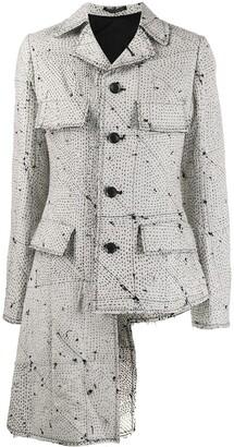 Yohji Yamamoto Stitch Patterned Jacket