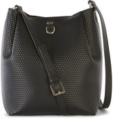 Karen Millen Embossed Shoulder Bag - Black