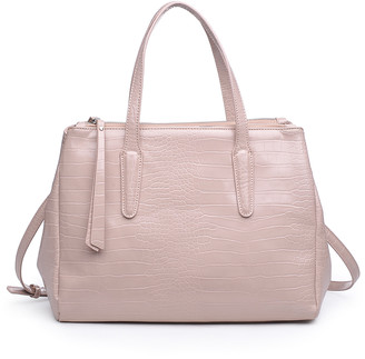 Urban Expressions Women's Totebags Nude - Blush Croc-Embossed Nora Tote