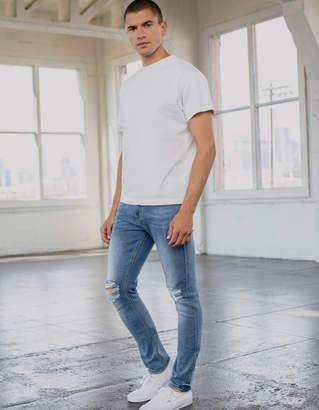 Rsq Tokyo Super Skinny Medium Destruction Mens Vintage Flex Ripped Jeans