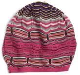 Missoni Women's Stripe Slouchy Beanie - Purple