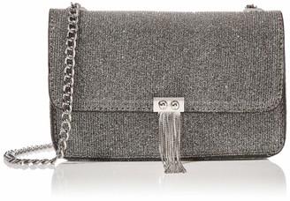 Dorothy Perkins Women's Metal Tassel Crossbody Bag Cross-Body Bag Black (Black) 4.5x12x18.7 cm (W x H x L)