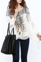 Bella Amore Silver Embellished Top