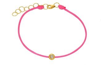 Ron Hami 14K Yellow Gold Bezel Diamond Station String Bracelet - 0.06 ctw