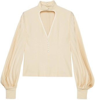 Gucci Silk shirt with cut-out heart