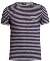 Fendi Striped Cotton-piqué T-shirt