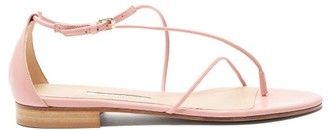 Emme Parsons String Leather Sandals - Womens - Pink