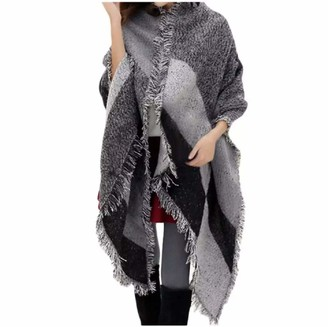 No Name Ltd Womens Cashmere Mix Blanket Scarf/Extra Large/Soft Plaid Winter Warm Cosy Large Wool Wrap Blanket Shawl