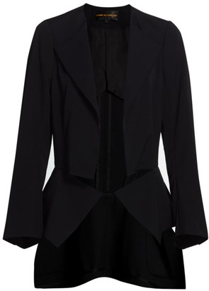 Comme des Garcons Wool Gabardine Asymmetric High-Low Jacket