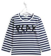 Comme Des Garçons Play Kids - striped logo print sweatshirt - kids - Cotton - 2 yrs