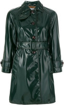 Prada patent finish trench coat