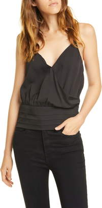 Frame Criss Cross Surplice Silk Cami