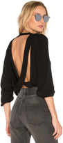 Riller & Fount Chet Open Back Crop Sweatshirt