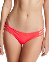 Milly Lanai Italian Solid Strappy Swim Bottom, Pink