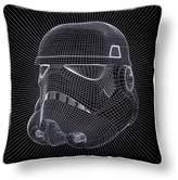 "Star Wars Stormtrooper Helmet Grid Pillow (15""x15) Black"