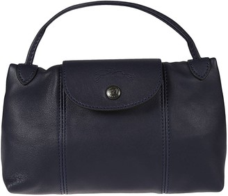 Longchamp Buttoned Top Back Zip Tote