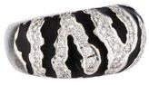 Ring 18K Diamond Zebra Striped