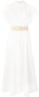 Rebecca Vallance Short-Sleeve Cotton Shirt Dress