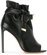 Nicholas Kirkwood peep toe booties - women - Calf Leather/Nappa Leather/Kid Leather - 35