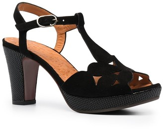 Chie Mihara Strap-Detail Block-Heel Sandals
