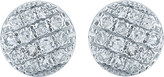 The Alkemistry 14ct white gold and diamond disc earrings