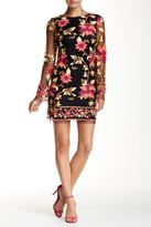 Alexia Admor Long Sleeve Embroidery Dress