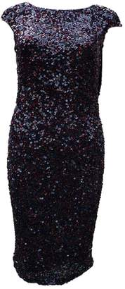 Theia \N Burgundy Glitter Dress for Women