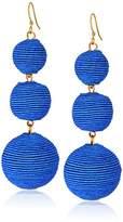 Kenneth Jay Lane Demin Thread Ball Drop Earrings