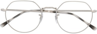 Ray-Ban Clear-Lens Round-Frame Glasses