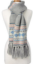 Lands' End Women's Multi Ski Scarf-Champagne Heather