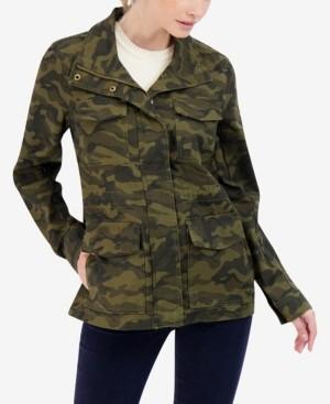 Sebby Junior's Camo Cotton Utility Jacket
