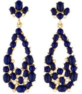 Kenneth Jay Lane Crystal & Resin Cabochon Openwork Teardrop Earrings