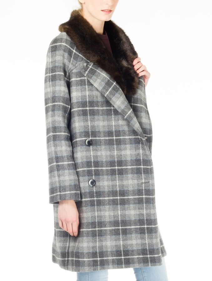 Thakoon Double Breasted Plaid Coat