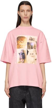 Balenciaga Pink I LOVE PETS XL Fit 'I Love Cats' T-Shirt