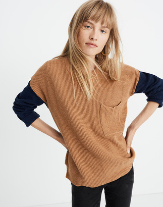 Madewell Thompson Pocket Pullover Sweater in Colorblock