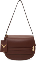 Valentino Brown Large My Rockstud Satchel