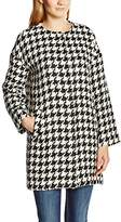 Benetton Damen Mantel, Dog Tooth Coat