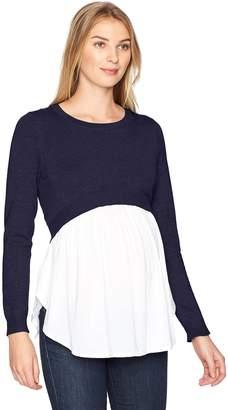 Ripe Maternity Women's Maternity Babydoll Nursing Sweater
