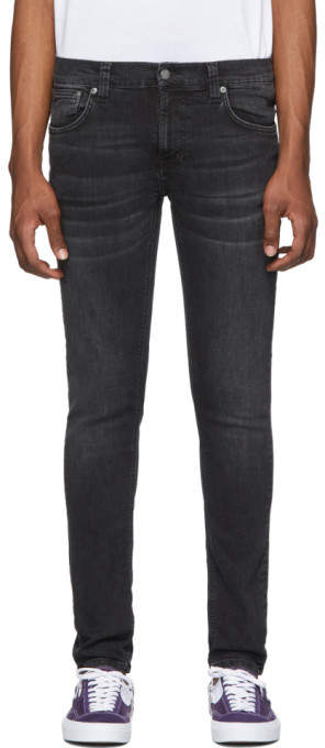 Nudie Jeans Black Tight Terry Jeans