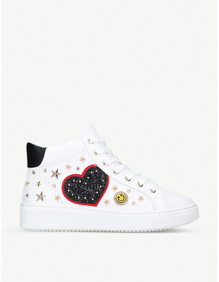 Aldo Afamia embellished faux-leather high-top trainers