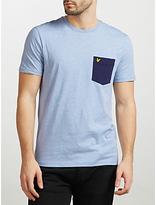 Lyle & Scott Contrast Pocket T-shirt, Blue Marl