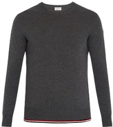 Moncler Extended-hem crew-neck wool sweater