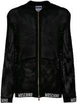 Moschino mesh knit hoodie
