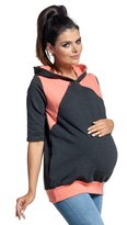 Zeta Ville Fashion Zeta Ville - Womens breastfeeding top sweatshirt hoodie - nursing panel - 334c (