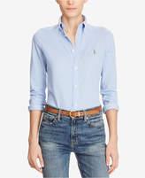 Polo Ralph Lauren Slim-Fit Button-Front Knit Shirt