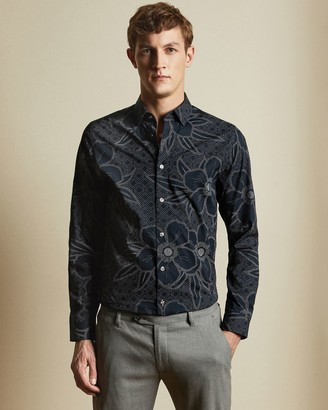 Ted Baker Cotton Floral Print Shirt