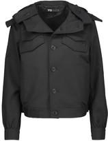 Y-3 + adidas Originals cotton-blend canvas hooded jacket