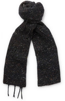 Maison Margiela Distressed Mélange Wool, Alpaca and Silk-Blend Scarf