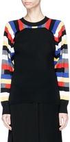 Sonia Rykiel Stripe split sleeve convertible swool sweater